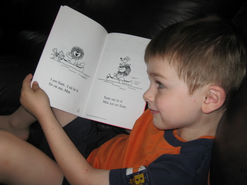 I See Sam homeschoolbytes Howd I Get My 4 year old to Read Books on His Own?