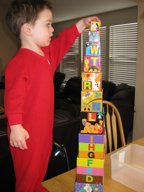 tower homeschoolbytes My Best Toddler Busy Idea After Having Five Kids