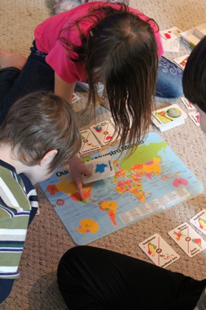 Geography quick pix homeschoolbytes Learning Geography with Games and a Beach Ball