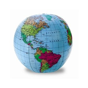 inflateable globe homeschoolbytes Learning Geography with Games and a Beach Ball