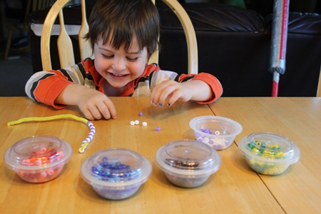 fun with beads homeschoolbytes Patterns and Beads: Preschool Fun