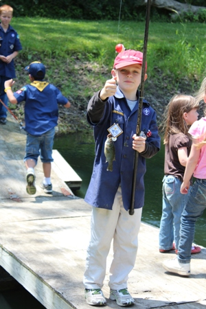 cub scout fishing homeschoolbytes Scouting: a Fun Addition to Homeschooling Life